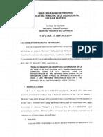 Informe De Comisión  P. DE O. 21, SERIE 2013-2014