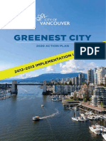 Greenest City 2020 Action Plan 2012 2013 Implementation Update