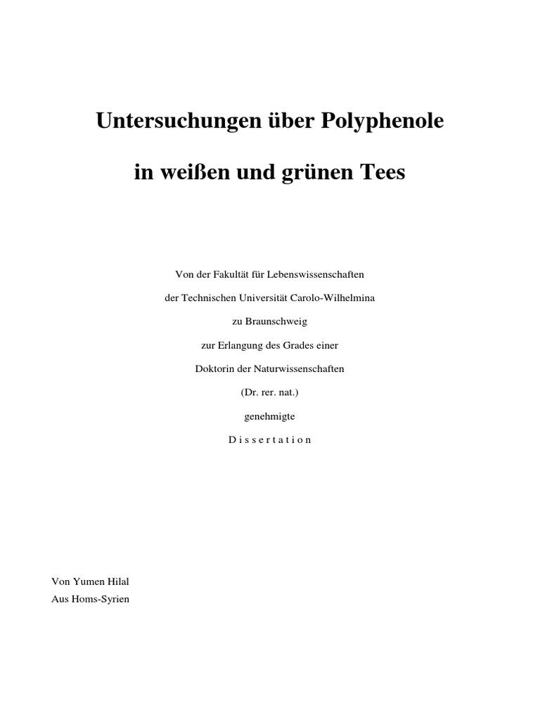 Dissertation Polyphenolgehalt in Tees   PDF