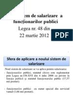 Prezentarea Legii Salarizarea Functionarilor Publici