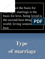 Type of Marriage