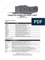 Desolation Character Generation Cheat Sheet Version 2