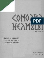 Comoara Neamului - Vol. 3 Cântece de dragoste, cântece de duh şi cântece de cătănie