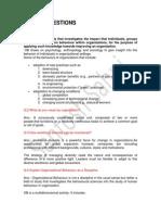 Organizational Behaviour MBA