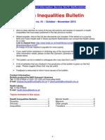 Health Inequalities Bulletin 41 Oct-Nov 13 (1)