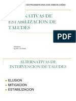 Alternativas de Estabilizacion de Taludes