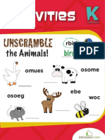 Animal Activities Workbook