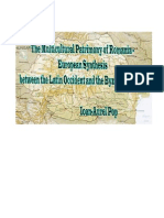 The Multicultural Patrimony of Romania – European Synthesis between the Latin Occident and the Byzantine Orient by   Ioan-Aurel Pop
