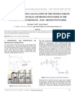 IJRET - Research Regarding Calculation of the Tensile Forces of Polyurethane Film and Protective Paper, In the Process of Polyurethane - Pad - Protective Paper.