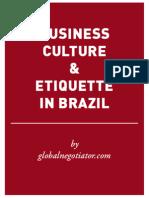 BRAZIL BUSINESS ETIQUETTE AND PROTOCOL GUIDE