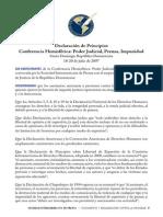 Conferencia Hemisferica Sobre Libre Expresion
