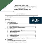 PLAN 13860 Plan Operativo Institucional (POI) 2012 2012
