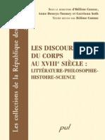 AA VV Les Discours du Corps au XVIII siècle