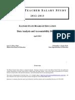 Illinois State Board of Education 2012-13 teacher salary study