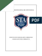 Acuerdos Institucionales de Convivencia, modelo de análisis.