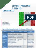 Principales problemas de México para el Desarrollo