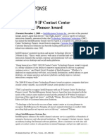 TMC's 2009 IP Contact Center Technology Pioneer Award
