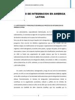 Proceso de Integracion en America Latina