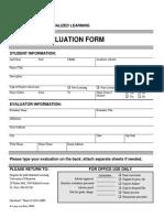 PIL Project Evaluation Form