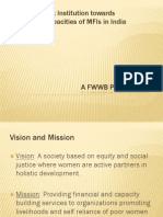 capacity building of mfis in india - the fwwb perspective