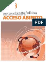 Directrices polótica Desarrollo Acceso Abierto