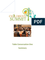 2013 childrens summit table conversation one