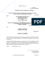 FORM 23 - Notice to Admit 1001