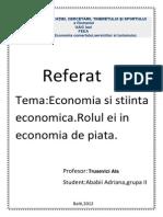 Economia Si Stiinta Economica