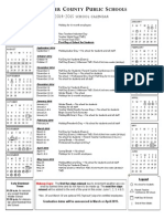 Recommended Fauquier calendar for school year 2014-2015