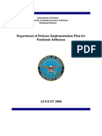 DOD - Implementation Plan for Pandemic Influenza