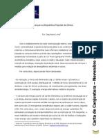 Conjuntura UFF - Carta de Novembro de 2013