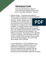 Vertical Balance Sheet