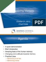 memory presentation - chad kolde