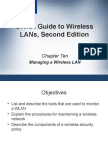 CWNA Guide to Wireless LAN's Second Edition - Chapter 10
