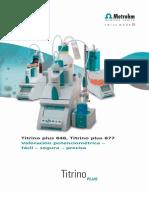 Catalogo Titulador Potenciometrico (Titrino 848)