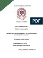 IMPLEMENTACION DEL SOFTWARE MP8 EN EL IMSS DURANGO