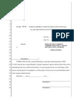 Nevada - NRS 18.130 Demand for Cash Security Form 4-19-2013