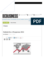 Outlook for a Outlook for a Prosperous 2014Prosperous 2014 _ BC Business