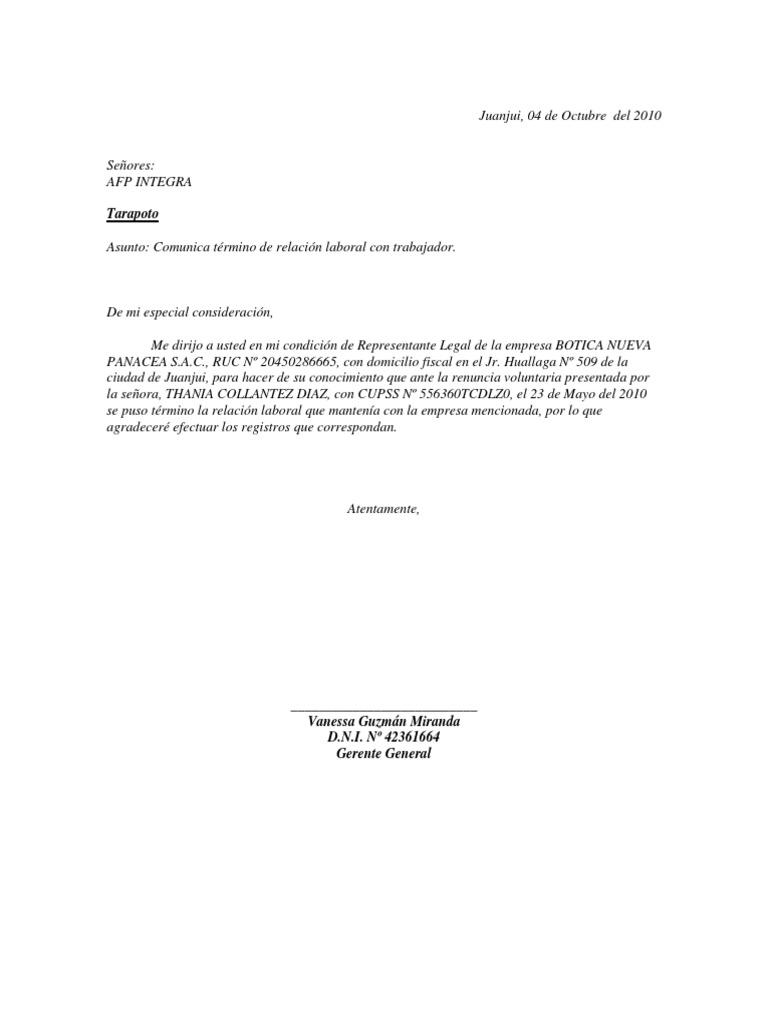 CARTA AFP.docx | Liquidación | Finanzas personales