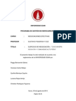 Caso Minera Socavón y CC Alto Perú - Negociaciones Efectivas