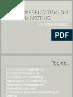 Presentation on Marketing