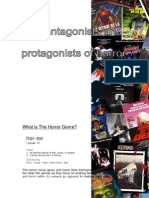 the antagonists and protagonists of horror