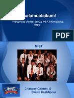 Msa Info Night