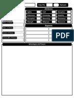 BlankCharacterSheet Fate - Dresden Files RPG