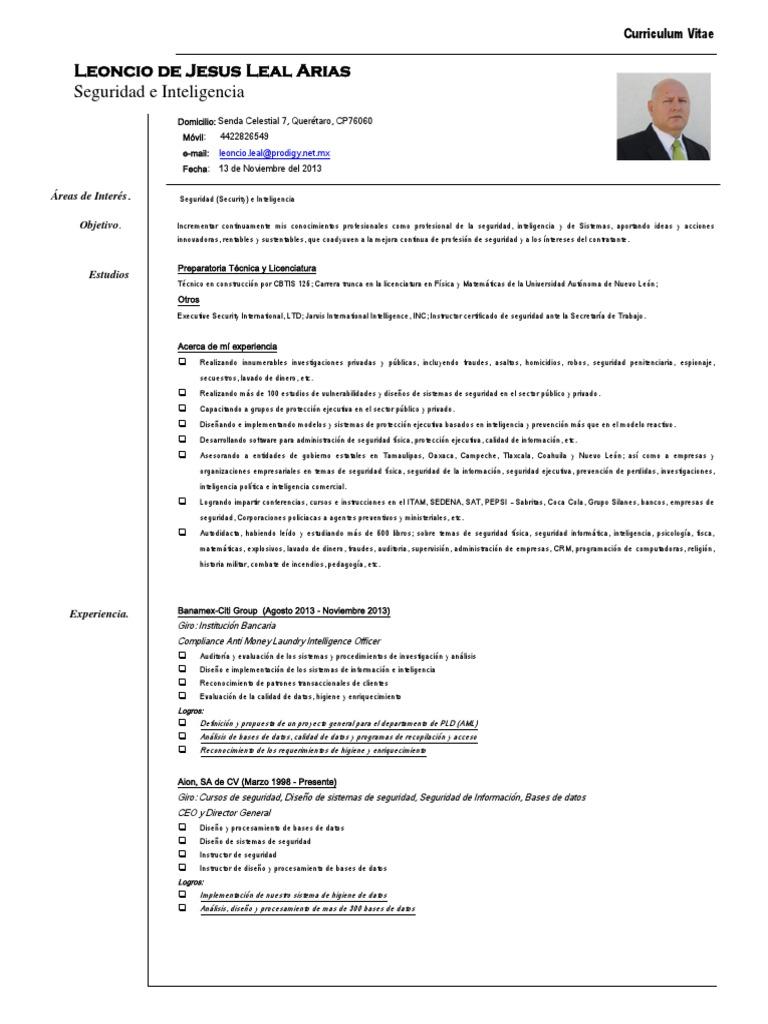 Curriculum Leoncio Leal 4