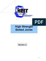 High Strength Bolted Joints