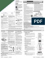 Sanyo 39inch Lcd Tv (1080p) Dp39842kgm Manual