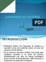 Llamadas Al Sistema en OpenSolaris