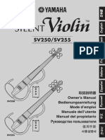 Silent Violin SV250/SV255 - Owner's Manual