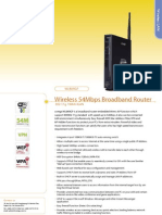 Corega WLBARGP Wireless 54Mbps Broadband Router Datasheet
